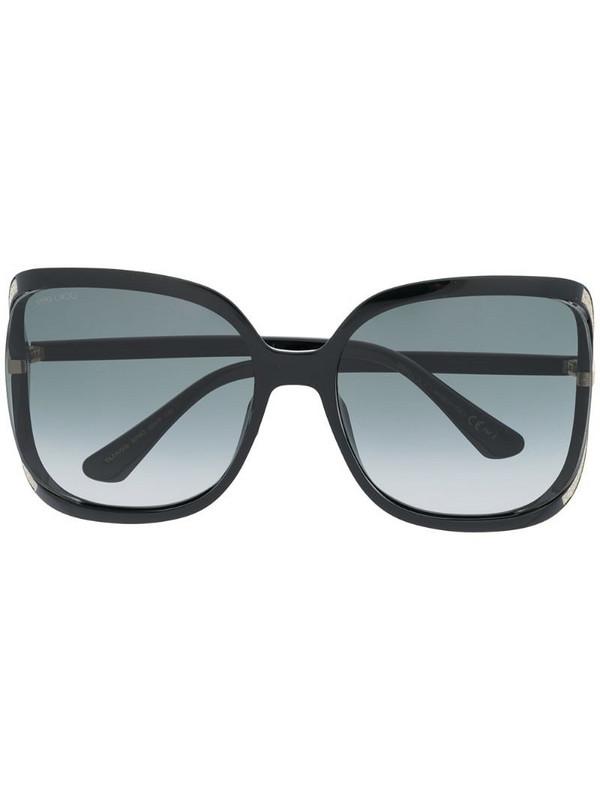 Jimmy Choo Eyewear Tilda oversized frame sunglasses in black