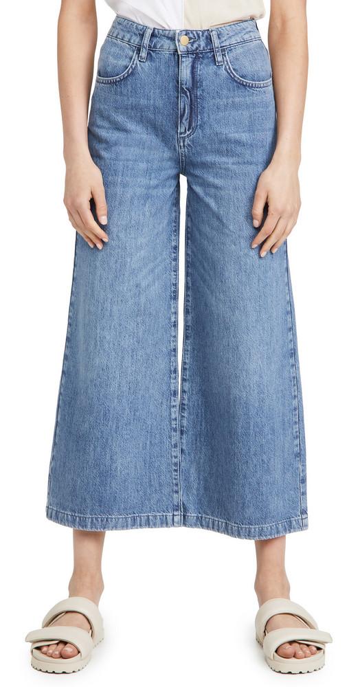 Triarchy High Rise Crop Wide Leg Jeans in indigo