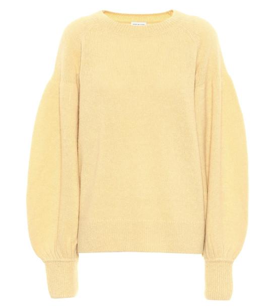 Dries Van Noten Alpaca-blend sweater in yellow