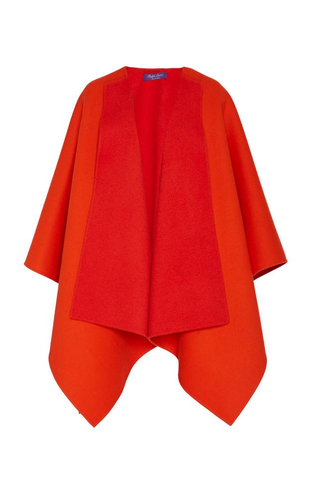 Ralph Lauren Kellin Reversible Wool Poncho Size: XS/S in orange