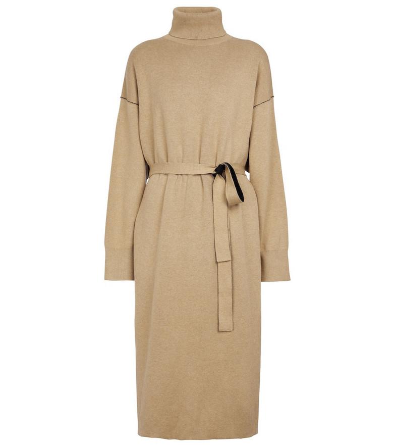 Proenza Schouler White Label cotton-blend sweater dress in beige