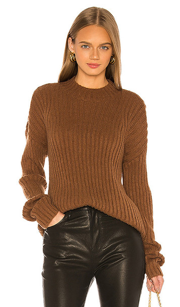 L'Academie Marcy Oversized Sweater in Brown