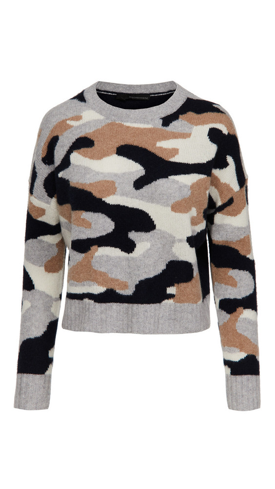 360 SWEATER Kris Cashmere Sweater in navy / multi