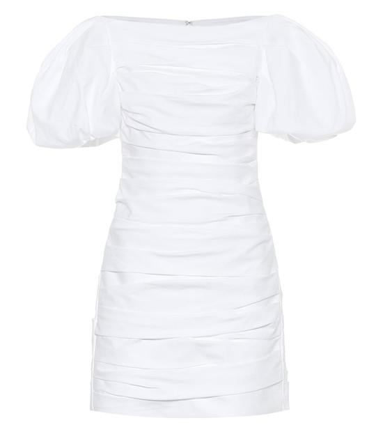 Khaite Shelly cotton-poplin minidress in white