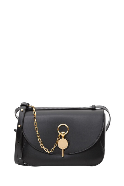 J.W. Anderson Kùey Bag In Buffed Calf Leather And Calf Suede Lining in nero