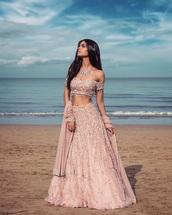 dress,indian,pink dress,cute dress