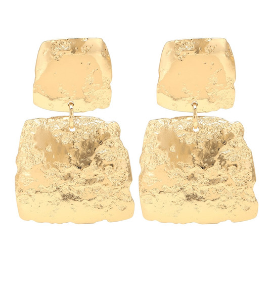 Max Mara Linz square drop earrings in gold