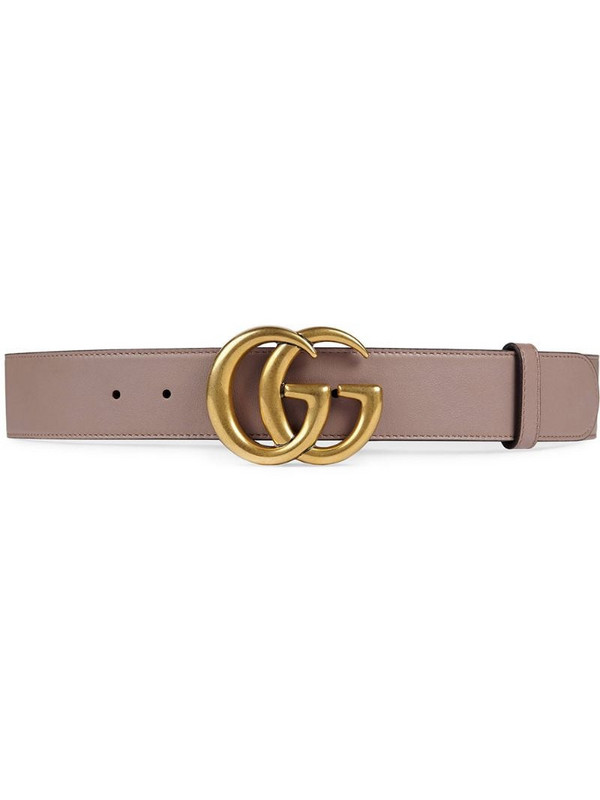 Gucci Leather belt with Double G buckle in pink