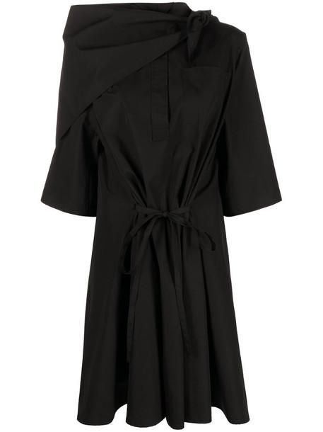 Givenchy logo scarf detail shirtdress in black