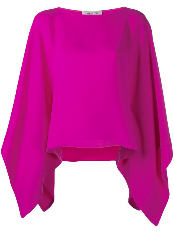 Valentino cape-style draped sleeves blouse in pink