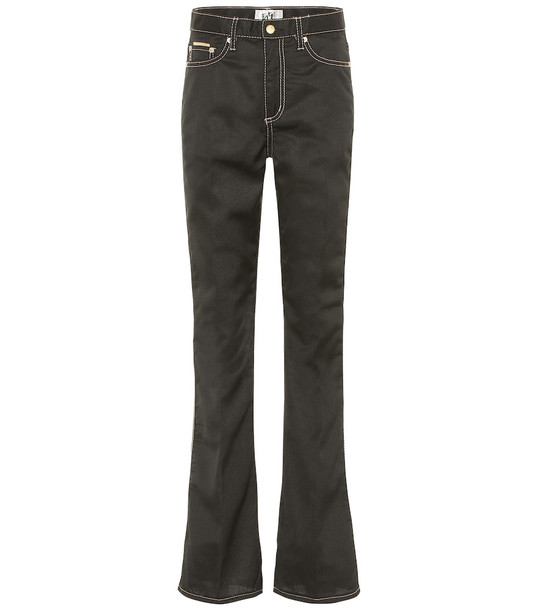 Eytys Oregon Cali high-rise flared jeans in black