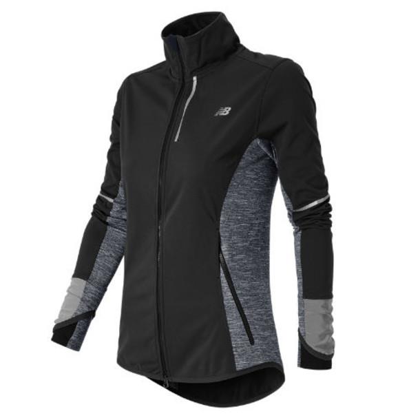 New Balance 53213 Women's Windblocker Jacket - Black, Outer Space (WJ53213BOU)