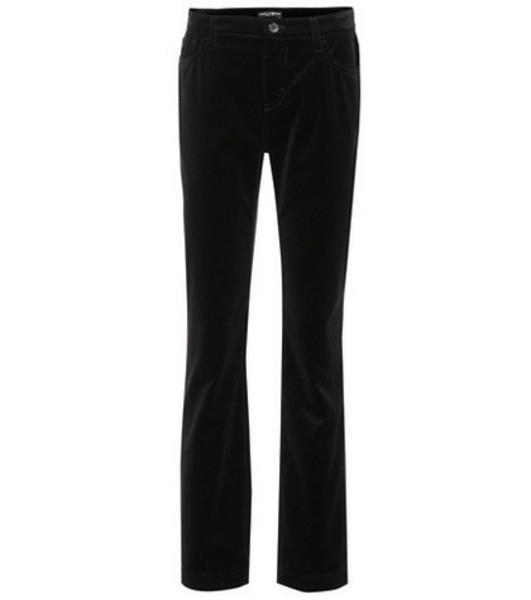 Dolce & Gabbana Flared cotton pants in black