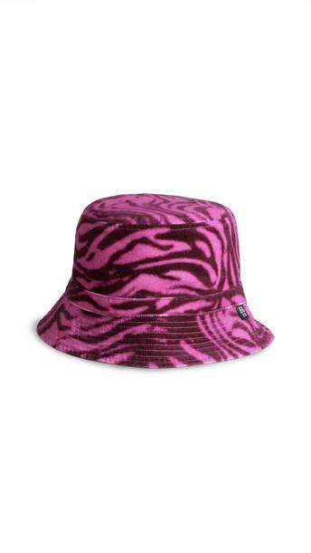 R13 Reversible Bucket Hat in black / magenta
