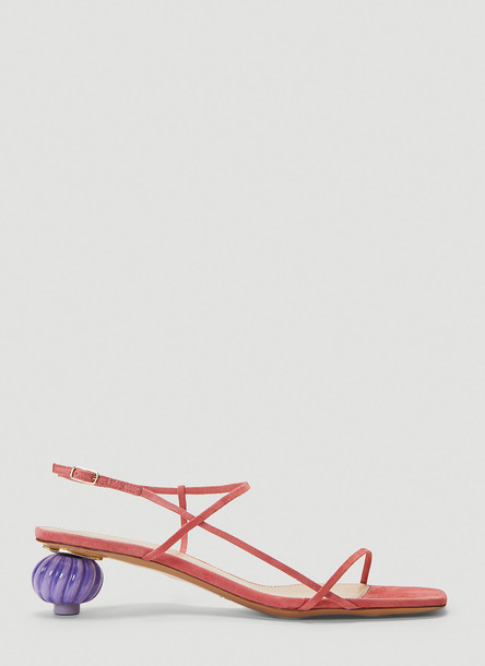 Jacquemus Manosque Heeled Sandals in Pink size EU - 39