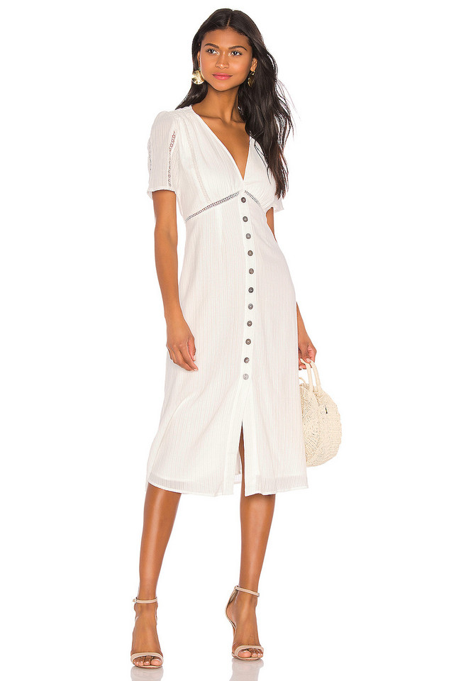 HEARTLOOM Carson Dress in white