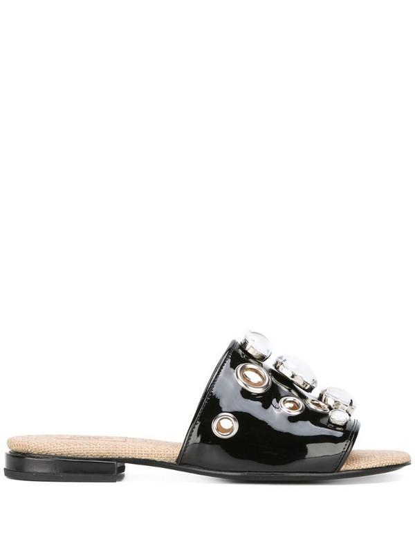Toga Pulla embellished flat sandals in black