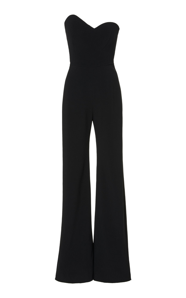Brandon Maxwell Asymmetric Strapless Crepe Jumpsuit Size: 0 in black