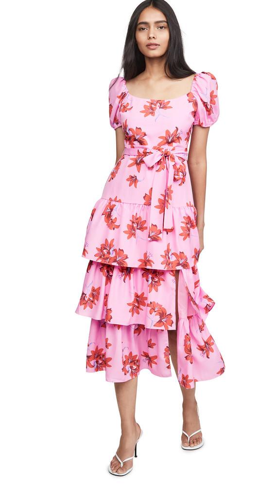 LIKELY Lottie Dress in pink / red / multi