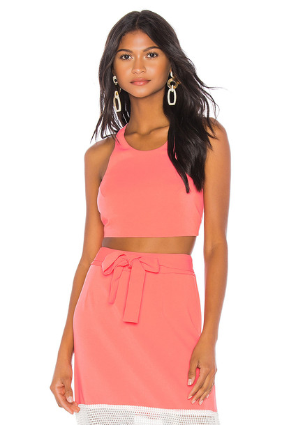 FLAGPOLE Kate Crop Top in pink