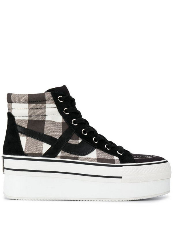 Ash Jimmy check high-top sneakers in black