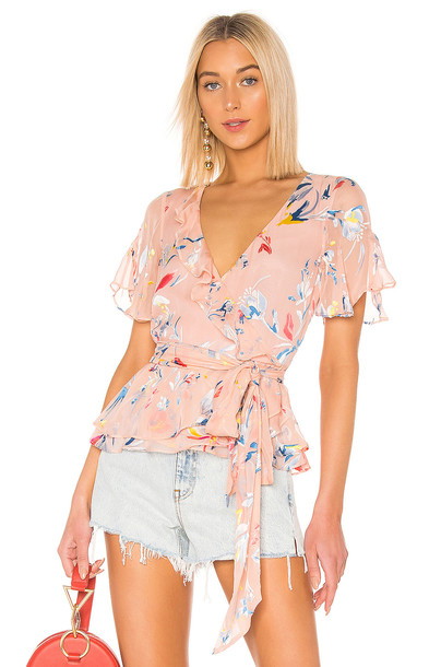 Tanya Taylor Bianka Top in pink