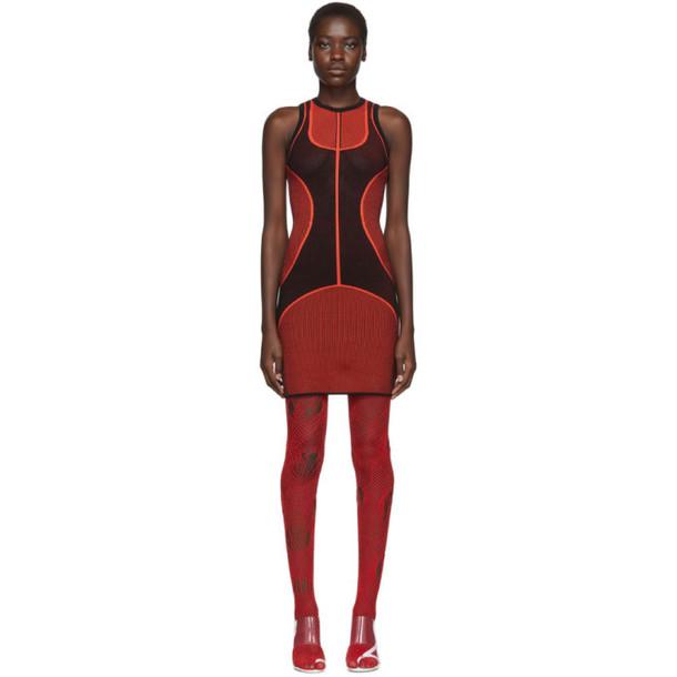 Kirin Red and Black Tech Knit Dress