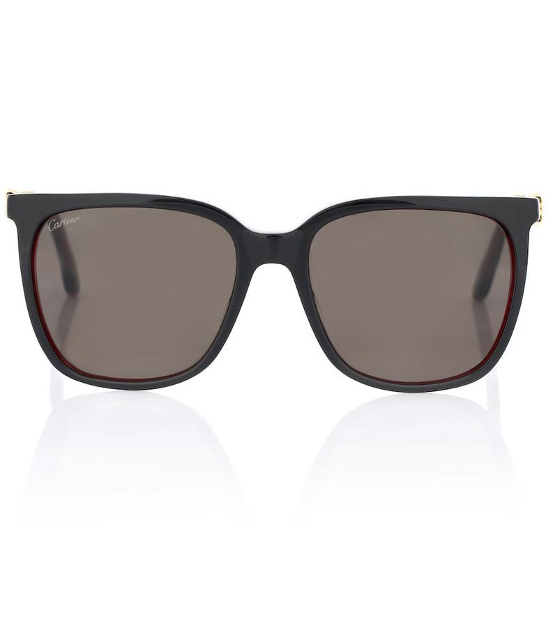 Cartier Eyewear Collection C Décor D-frame sunglasses in black