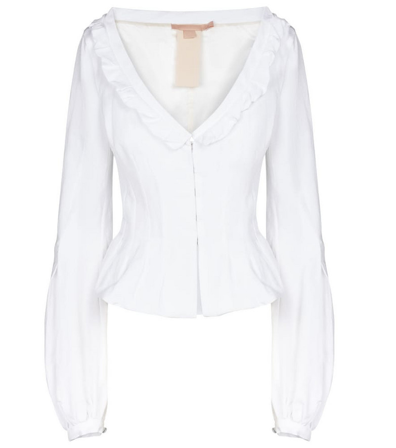 Brock Collection Sabrina cotton-blend top in white