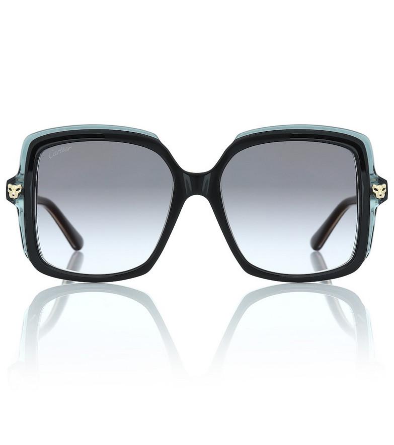Cartier Eyewear Collection Panthère de Cartier oversized sunglasses in black