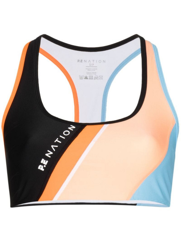 P.E Nation Aerial Drop colour-block sports bra in black
