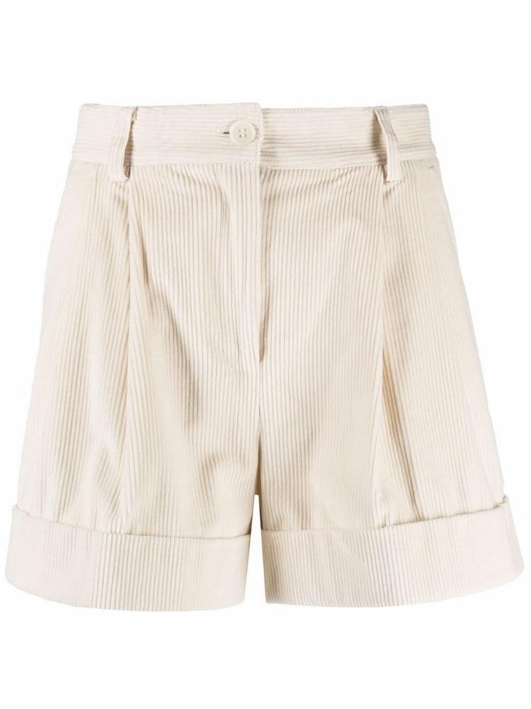P.A.R.O.S.H. P.A.R.O.S.H. tailored corduroy shorts - White