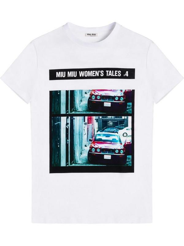 Miu Miu Tales jersey T-shirt in white