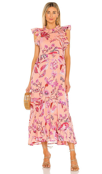 Banjanan Hanna Dress in Peach in blush