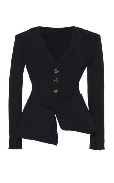 A.W.A.K.E. A.W.A.K.E. Asymmetric Blazer in black
