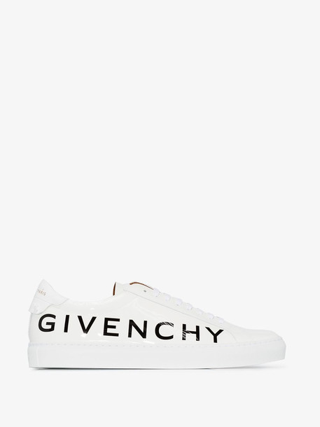 Givenchy White Urban patent leather logo sneakers