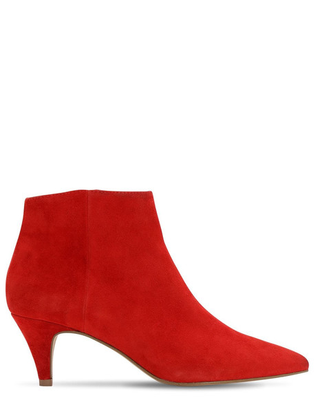 STEVE MADDEN 60mm Suede Ankle Boots in red