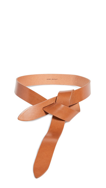 Isabel Marant Lecce Leather Belt in natural