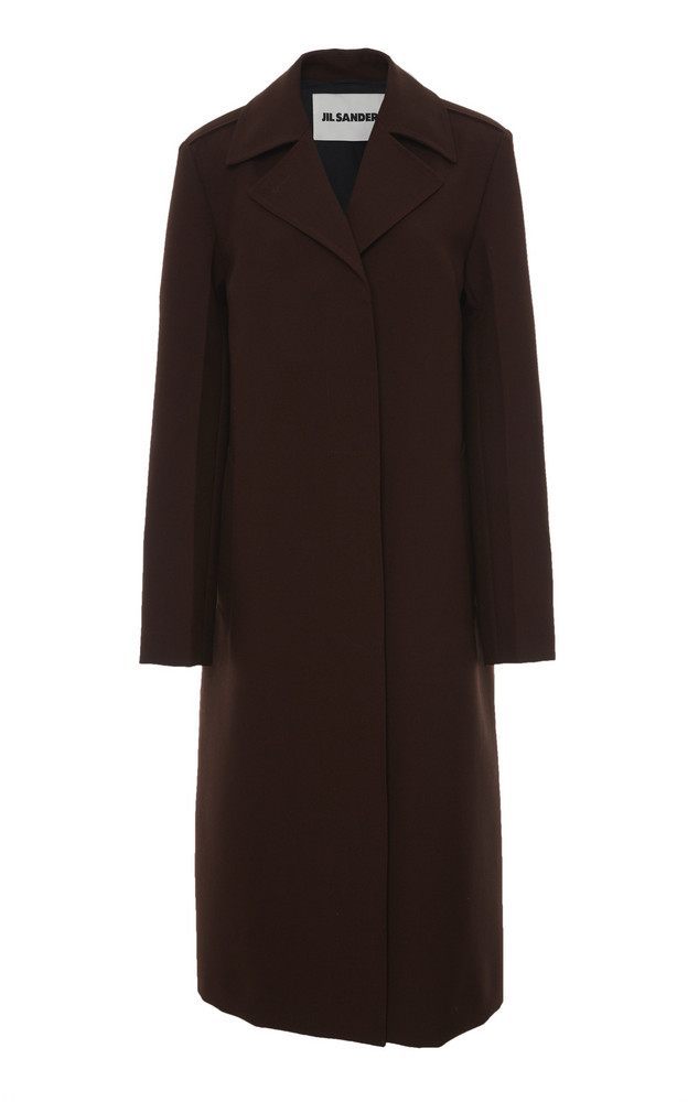 Grey Long Sleeve Lapel Pockets Oversized Coat Sheinside Com