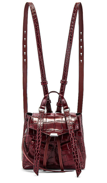 ALLSAINTS Polly Mini Backpack in Burgundy