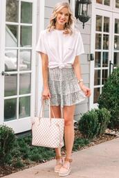 straight a style,blogger,top,shoes,t-shirt,shirt,skirt,shorts