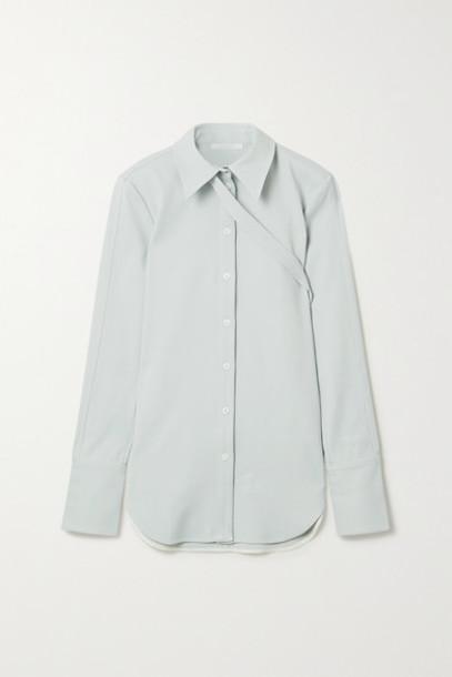 Peter Do - Buckled Stretch-crepe Shirt - Sky blue