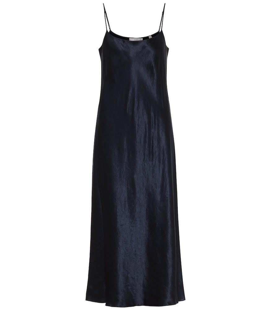 Vince Satin slip dress in blue