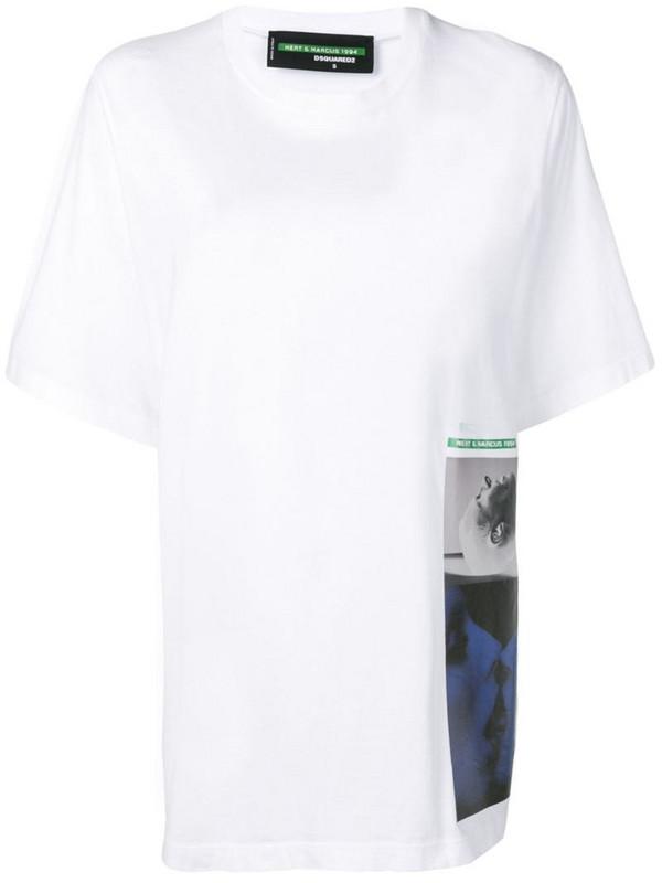 Dsquared2 x Mert & Marcus 1994 print T-shirt in white