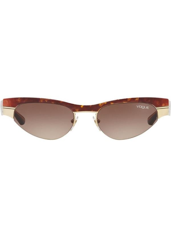 Vogue Eyewear Gigi Hadid capsule low frame sunglasses in brown