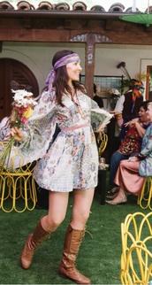 dress,hippie dress