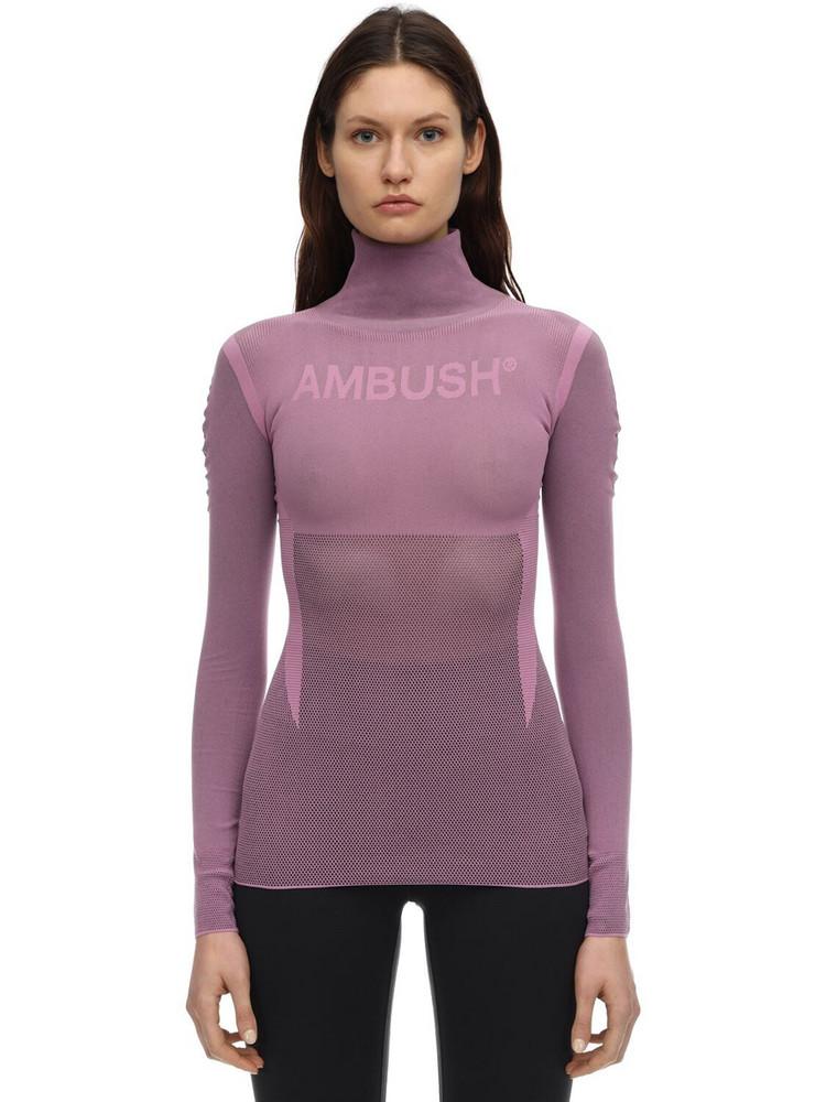 AMBUSH Logo Nylon Blend Top in pink