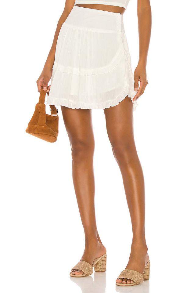 JACK by BB Dakota Crinkle In Time Skirt in white
