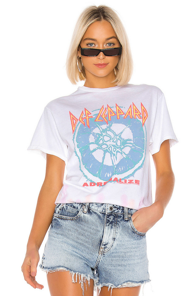 Junk Food Def Leppard Adrenalize Tee in white