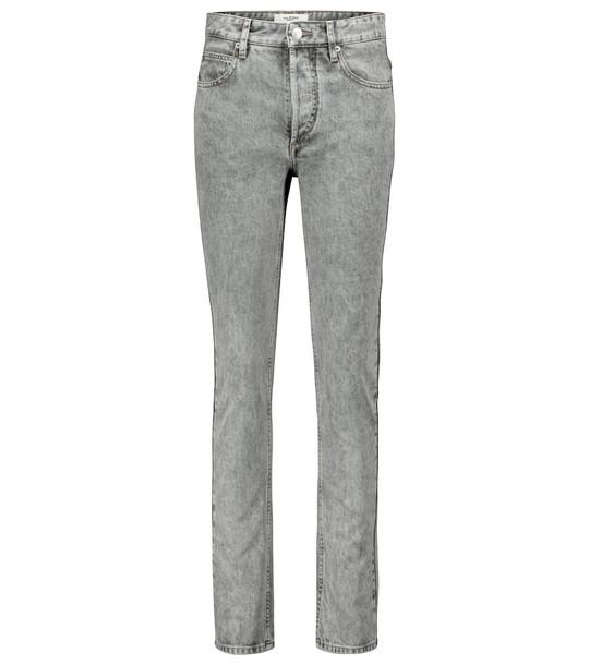 Isabel Marant, Étoile Biliana mid-rise slim jeans in grey